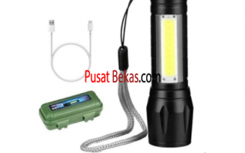 KUKE SX-U3 Senter Mini XPE COB Led Swat Police Light Recharge / Senter Swat / Senter Recharge