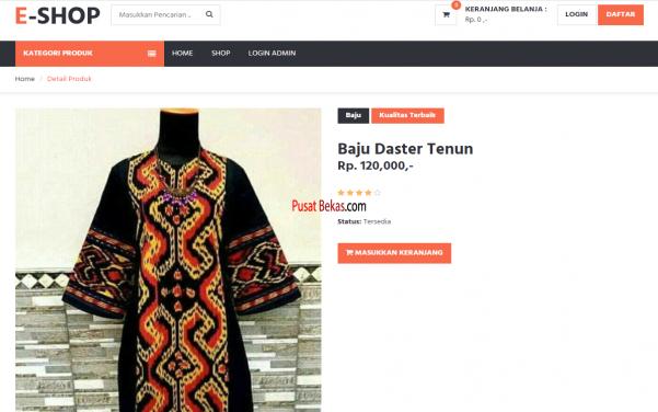 Jasa Pembuatan Website Butik Online, Website Fashion, Website Jualan Baju