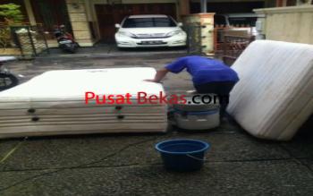 Jasa Cuci Spring Bed Pembersihan Noda Tungau  Jakarta Utara