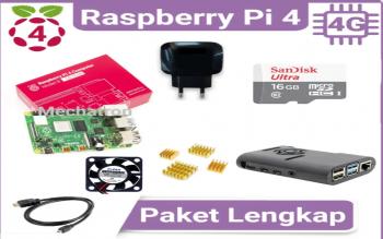 Raspberry Pi 4 Model B 4GB Paket Lengkap Siap Pakai UK Pi4 4 GB, Depok